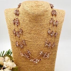 COLDWATER CREEK Sterling Rose Gold Necklace